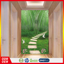 Bamboo Room trail natural bamboo wallpaper for home door decors