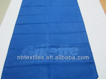 Embossed microfiber beach towel