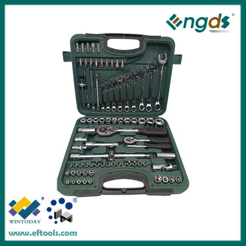 81pcs Cheap Price Carbon Steel Material Box Spanner Set