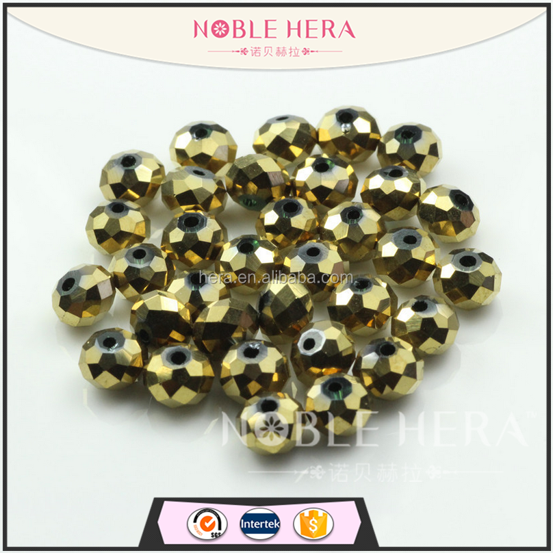 Factory directly wholesale diy crystal galss loose flat beads