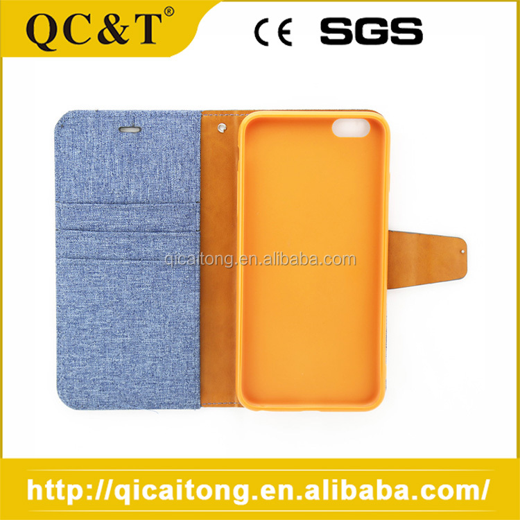 Jeans Leather Skin Stand Mobile Flip Case Cover For Iphone 6 6G 6S