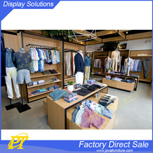 Men fashion retail store decor for garments showroom display