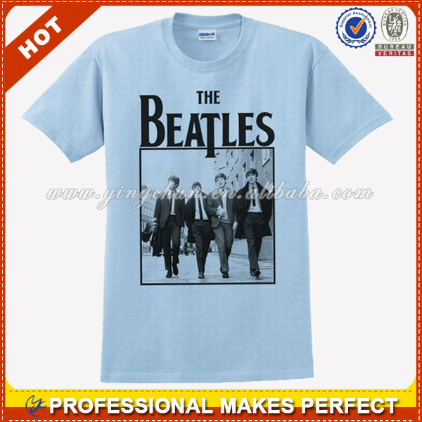 The Beatles walking portrait white t-shirt new official adult xxl(YCT-A1189)