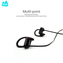 Hot sale Neckband Sport Bluetooth V4.0+EDR Earphone for mobile cell phone RU9