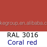 RAL3016 Coral red Epoxy Polyester Powder Coating