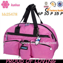 Pink washable nylon Golf Sport Bag