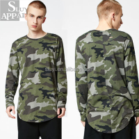 Camo t shirt destroyed long sleeve plus size clothing custom t-shirts mens military weatshirts mens clothing manufacturers