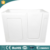 Acrylic walk in bathtub with seat for disabled