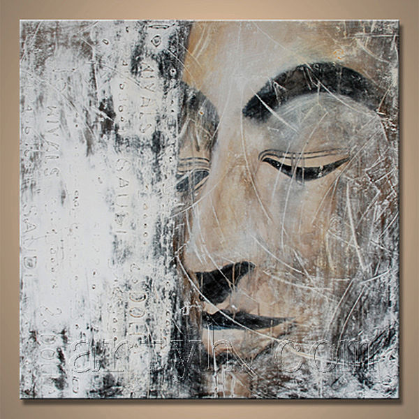 Popular modern framed painting by handmade of buddha