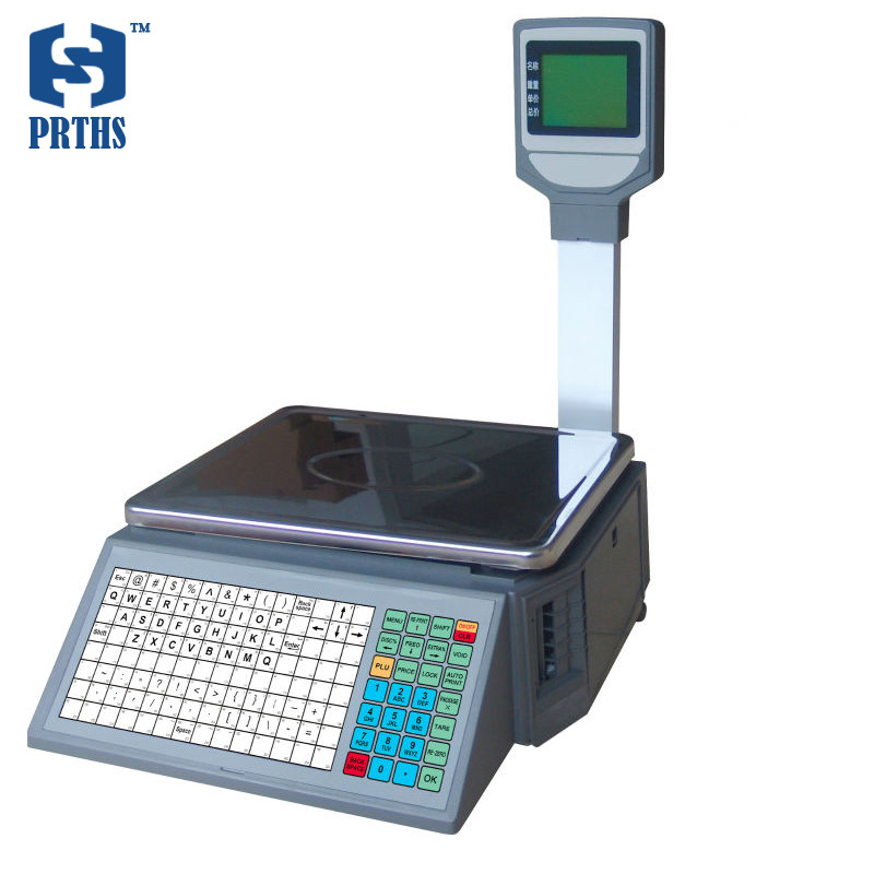 30kg price computing weighing barcode label printing <strong>scale</strong> for fruit retail