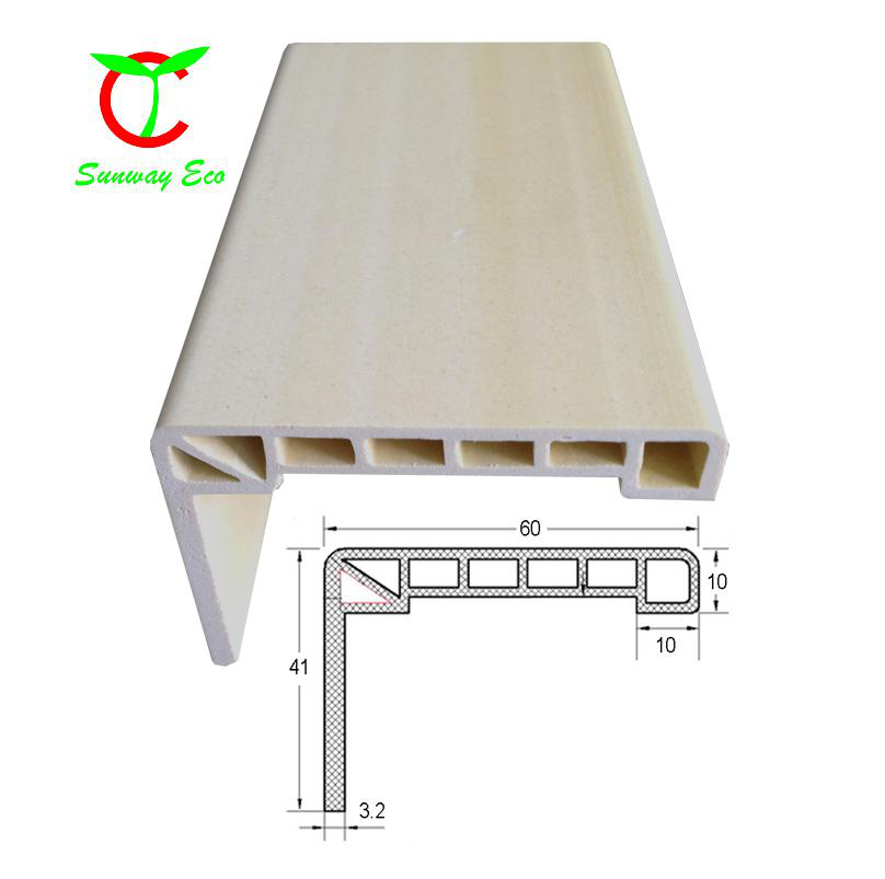 mothproof WPC door frame PVC door architrave casing 60mm*41mm