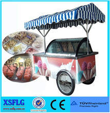 italian ice cream pushing carts /gelato display tricycles/popsicels display bikes (CE)