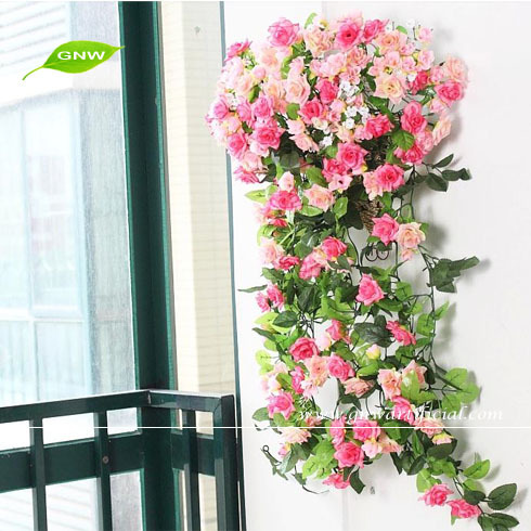 GNW FLV08 Fashion Artificial Ivy Vine Leaves Fake Foliage Flower Garland Plants Home Decoration for sale