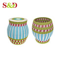 Fashion furniture factory price rattan weave drum bar stool for sale