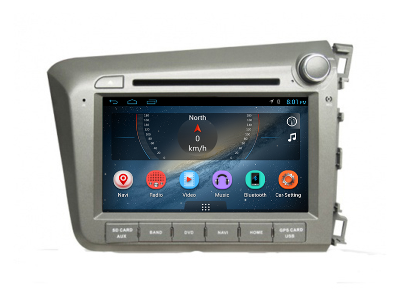 In-dash car stereo radio/dvd/gps/mps/3g multimedia system 2din android car dvd player for honda civic (RHD) 2012
