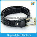 Men's Casual Black Color Faux PU Leather Braided Belt