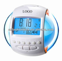 7 Color Changing LED Digital LCD Alarm Clock with Radio