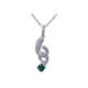 JRL handmade accessory for women ,sterling silver 925 with emerald pendant jewelry wholesale