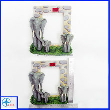 3D resin animal figurine type photo frame ,christmas dedor photo frame