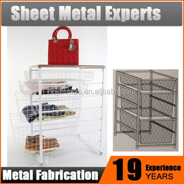 basket kit for clothing shelving Home Goods Storage Unit Collapsible Wire Mesh Baskets storage basket for closet