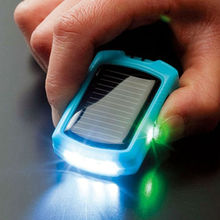 Mini portable keychain cheap solar mobile phone charger