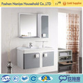 American style cheapest golden aluminium wall hang white bathroom vanity