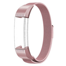 Jewelry Rose Pink color Bangle with Clear Crystal Elements for Fitbit Alta strap