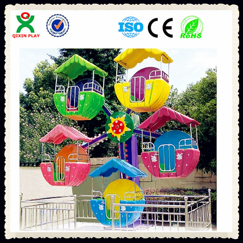 Lovely mini cable car manufactures, cheap amusement cars for sale, electric outdoor playground games for kids or adults QX-127B