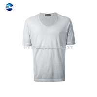 Wholesale Deep V-neck Men's Sexy Short T-shirts Plain