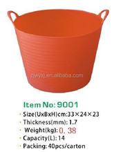 All Purpose Trug,Flexible Garden buckets,PE Plastic horse feed trough