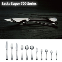 Stainless Steel Silver Flatware Made In Japan Series For High Level Restaurant