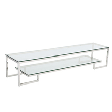 living room furniture glass top TV stand / TV table