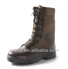 Brown brown leather riding combat Boots