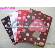 for ipad2 leather case with stand (011)
