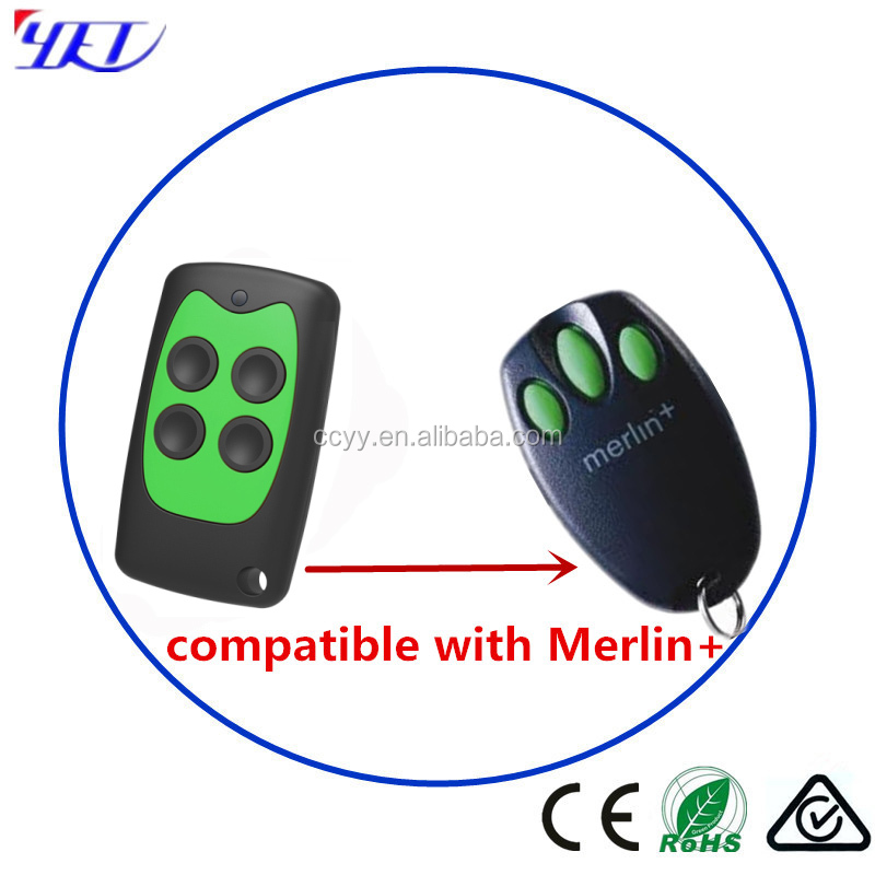 433 Rolling Code Remote Control Replacement Merlin+ compatible keyfob Transmitter