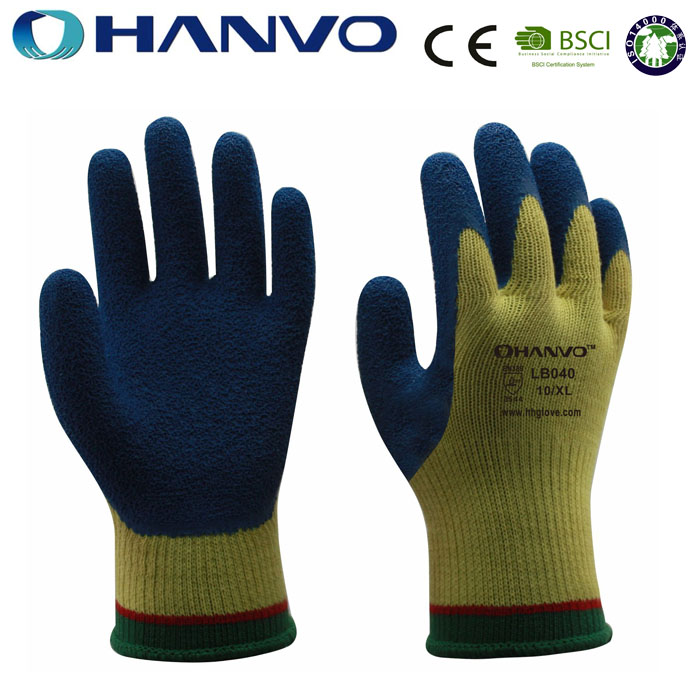 HANVO Latex Black Cutting Glass Protective Gloves