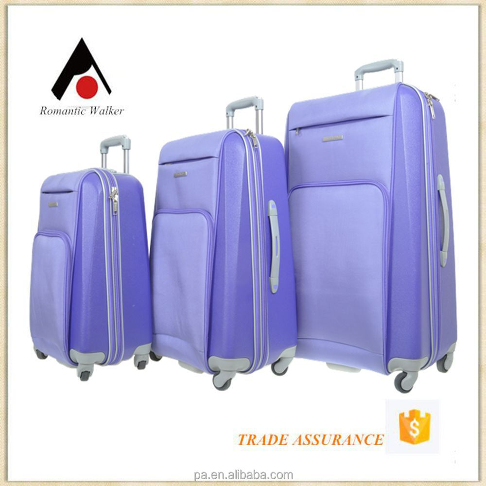 Best selling cheap pomotional travel bag EVA soft trolley luggage ,Nylon or fabric trolley bag with wheels