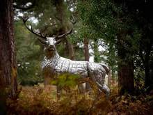 stainless steel deer sculpture VSSSP-16S