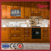 High quality solid wood walnut kitchen cabinets