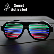 wholesale colorful fashion Sound Activated LED Sunglasses eyeglasses