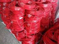 wholesale 50M RED color 3core H05VV-F 3G1.5mm2 PVC electric power cable wire