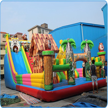 Durable large inflatable castle jumping bouncer for comercial use/entertainment