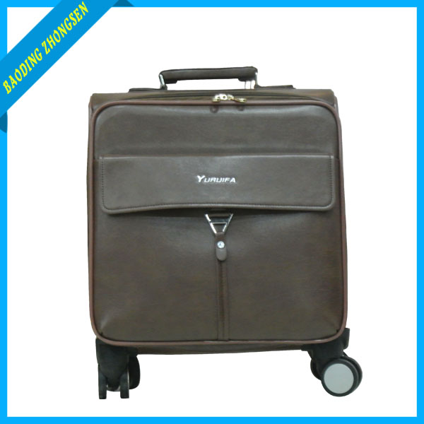 Durable PU hand carry baggage trolley for traveler