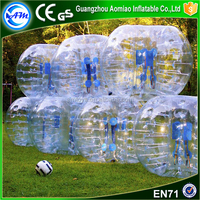 Outdoor sports inflatable human soccer bumper ball bubble football