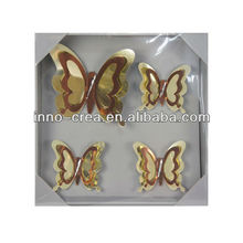 Modern Acrylic Mirror Decorative Wall Sticker - Butterfly Design