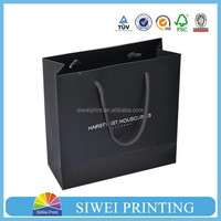customed made cosmetics carrier paper bags