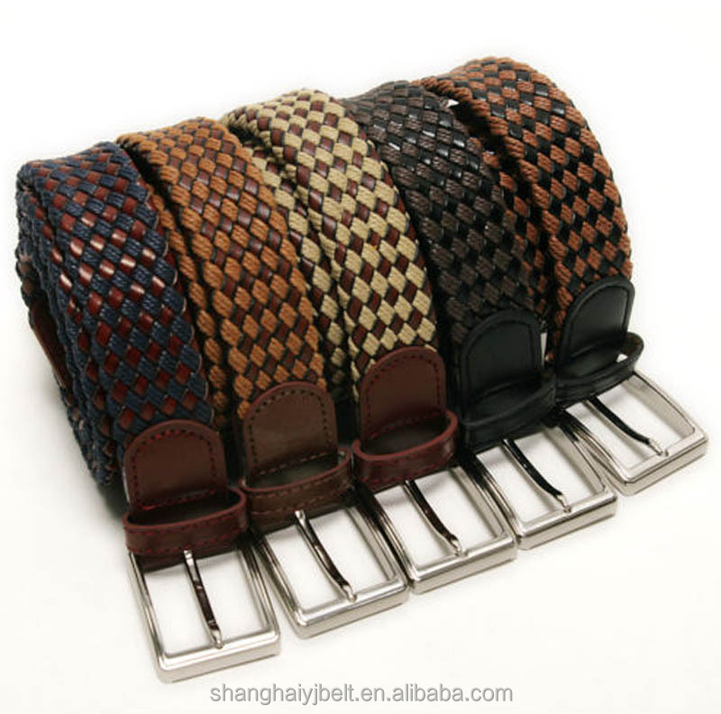New products 2017 leather braided belt