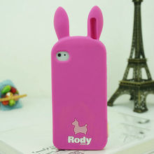 soft silicone rubber cover cute Rody horse 3d animal case for iphone 5