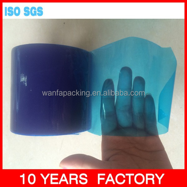 Wanfa Hot sale blue PE Protection film 100% virgin material PE film