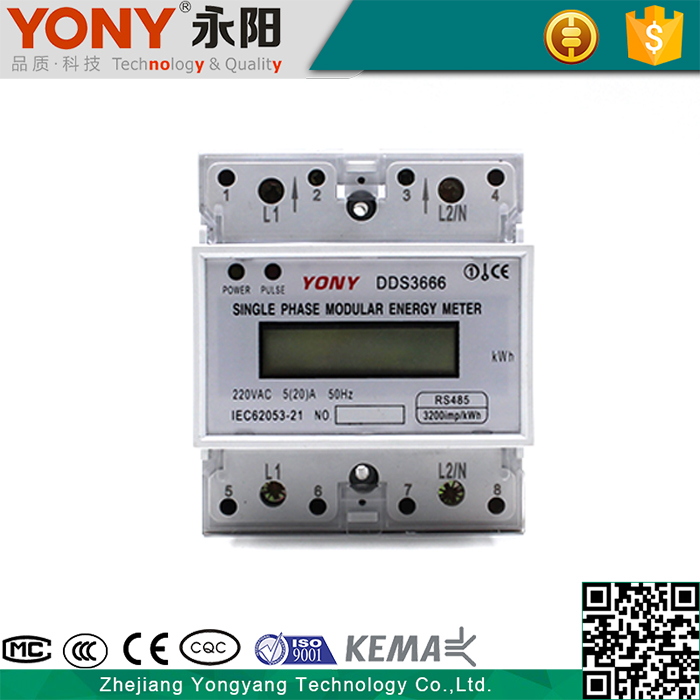 Flexible Tariff Setting Din Rail Stop Digital Power Meter